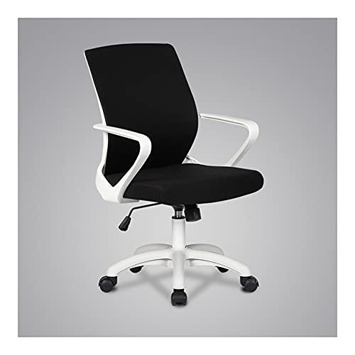 ZRJ Silla de oficina para el hogar, silla de oficina, silla ergonómica, moderna silla giratoria de escritorio para el hogar, oficina, silla de escritorio (color: blanco)