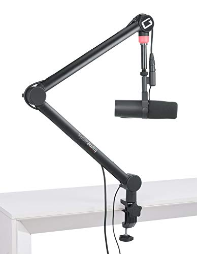 Gator Frameworks Professional Desktop Broadcast/Podcast Microphone Boom Stand with On-Air Indicator Light (GFWMICBCBM4000)