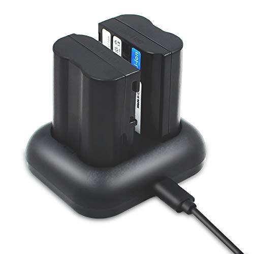 ENEGON Batería de Repuesto (Paquete de 2) y Kit de Cargador rápido para Nikon EN-EL15/EL15a/15b y Nikon Z6 Z7 D500 D7100 D750 D7000, D7200 D810 D610 D800 D600 D800e D810a D880