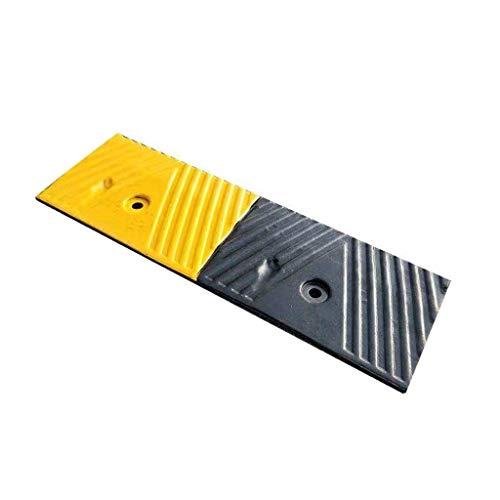 Doorway Slope Rampen, verstärkte Gummi Ramps Große Lagerschwelle Rampen Rollstuhlrampen/Gelb Schwarz (Color : Black+Yellow, Size : 48 * 15 * 3cm)