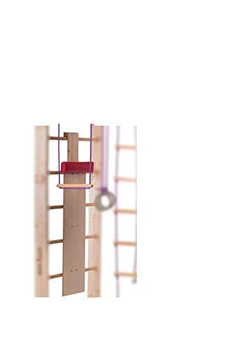 RINAGYM Slide con Almohadilla Suave para Escalera Sueca, Banco de Madera para Barra de Pared