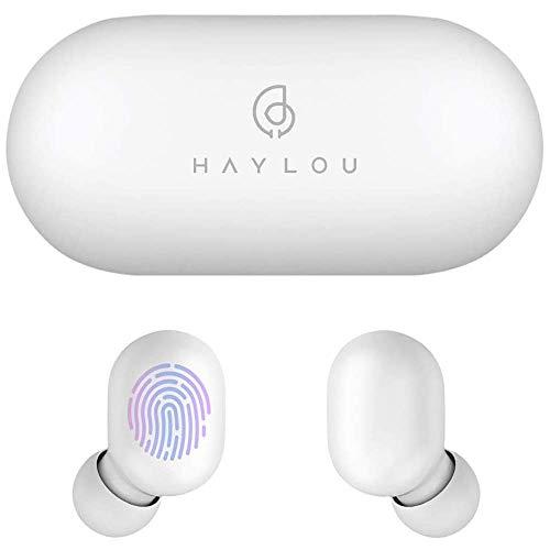 Haylou GT1 Kabellose In-Ear-Kopfhörer, Bluetooth 5.0, Sport, HD, Stereo, Touch-Steuerung, mit IPX5 wasserdicht, schnelle Verbindung, Mini-Hülle (nur 30 g), insgesamt 12 Stunden Spielzeit.