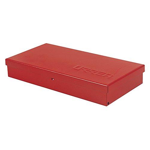 Caja de herramientas de metal, 9 – 2/3 pulgadas de largo x 5 pulgadas de ancho x 1 – 4/7 pulgadas de alto, calibre de 24 hojas
