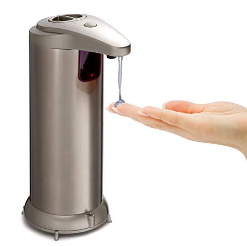 Dispensador de jabón automático de acero inoxidable dobles botones dispensador de jabón Sensor de movimiento de infrarrojos Touchless dispensador de desinfectante líquido para manos libres