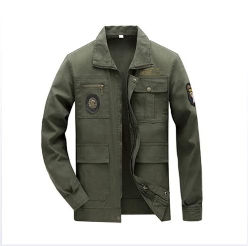 NHY Abrigo de soldadura, resistente y resistente, resistente al desgaste de Armygreen, chaqueta de soldadura, verde A, M