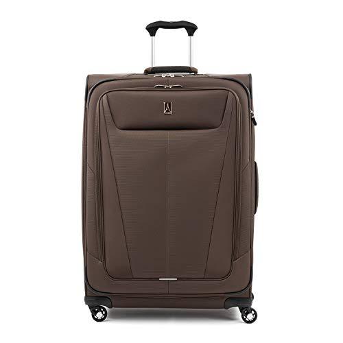 Travelpro Maxlite 5-Softside Expandable Spinner Wheel Luggage, Mocha, Checked-Large 29-Inch