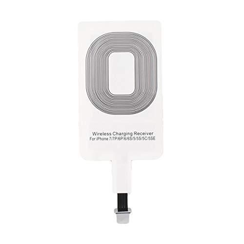 Tivolii Bobina Universal de Carga Ligera del cojín del Adaptador del Cargador inalámbrico del Receptor de Qi de la Alta Calidad para el Sistema del iPhone