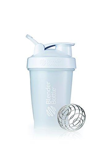 BlenderBottle Classic Loop Top Shaker Bottle, 20-Ounce, Frosted White