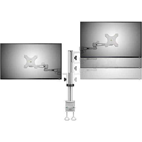 SpeaKa Professional SP-5986112 2fach Monitor-Tischhalterung 33,0 cm (13) - 68,6 cm (27) Höhenverstellbar, Neigbar, Schw