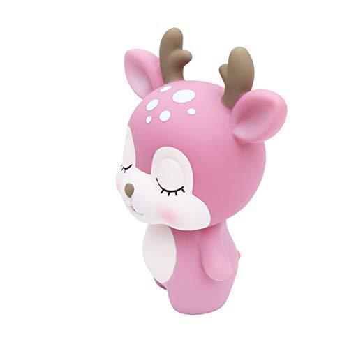 Balacoo Carino in Miniatura Renna Cartone Animato Salvadanaio Woodland Figurine di Animali Ststues Banca di Moneta di Plastica Tavola di Nozze Centrotavola Decorazione per I Bambini I