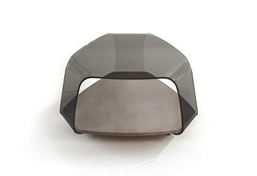 Linea Vetro Como Couchtisch, Glas, 85x80x40 cm