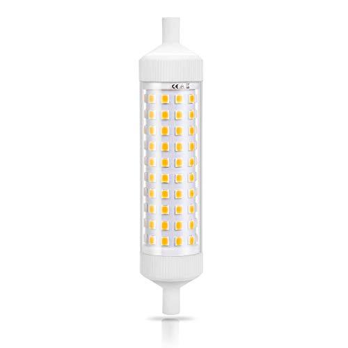 R7s Led 118mm 25MM Keramik 10W 1000LM Linearlicht 360°Abstrahlwinkel Warmweiß 4000K AC 230V Entspricht der R7s Halogenlampe 200W Lampe [Energieklasse A +] Zelámpara