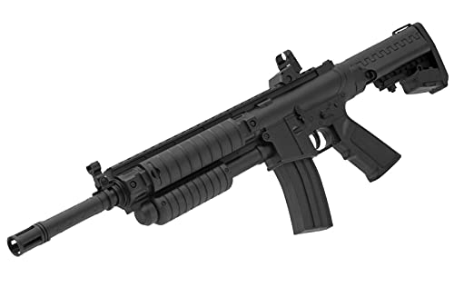 B.W. Softair Gun Airsoft Gewehr + Munition | PA-100 Sturmgewehr - Schwarz Profi Voll ABS | 56 cm. Inkl. Magazin & unter 0,5 Joule (ab 14 Jahre)