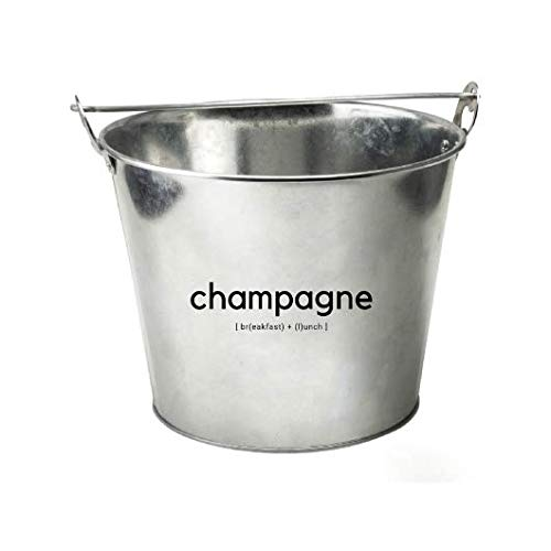 """TIPSY UMBRELLA """"Champagne"""" Galvanized Metal Chiller Bucket (5qt) Mimosa Bar Supplies/Ice Bucket for Cocktail Bar"""