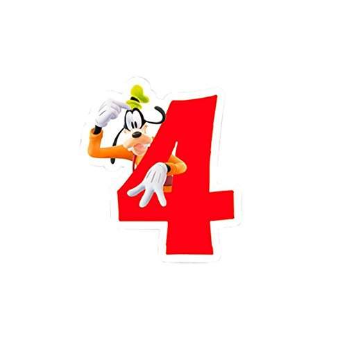 Vela 4 cumpleaños Mickey Disney Playful