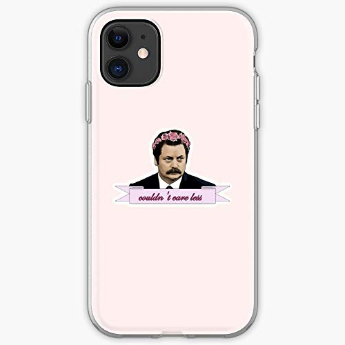 Swanson Nick Rec Parks Floral Ron Cartoon Flower Offerman Recreation and Headband | Phone Case for iPhone 11, iPhone 11 Pro, iPhone XR, iPhone 7/8 / SE 2020