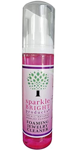 Sparkle Bright All-Natural Jewelry Cleaner Solution | 2.5oz. Foaming Liquid | Jewelry Cleaner for Ultrasonic, Diamonds, Fine, Costume, and Designer Jewelry