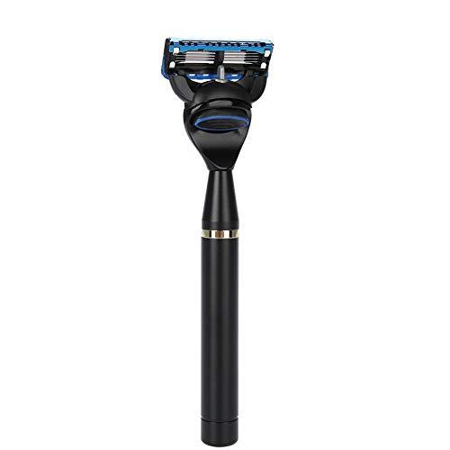 Rasoir de sécurité à double tranchant, outil de rasage de barbe manuel pour homme vintage, meilleure expérience de rasage pour hommes(Black)