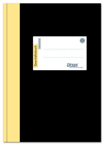 Ursus 608361 Geschäftsbuch 2921B144K A4, kariert, 80 g/qm, 5 mm, 144 Blatt
