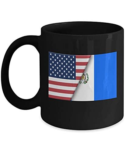 USA Guatemala Guatemala Flagge 11oz schwarze Kaffeetasse Einwanderer Doppelbürger Geschenk