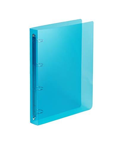 Favorit Raccoglitore Polipropilene Lumina 22X30 4 Anelli Tondi Diametro 30 mm, Blu