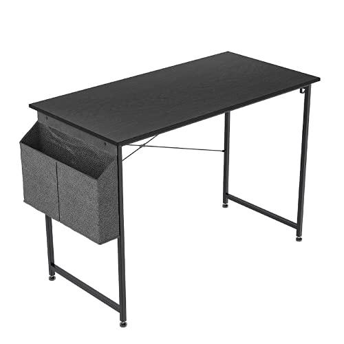 Maoviwq Escritorio de computadora escritorio de oficina estilo moderno y simple con bolsa de almacenamiento gancho de hierro para el hogar oficina estudio escritorio estudiante