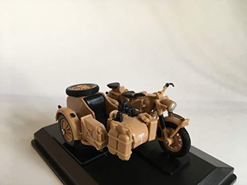 Cararama BMW B-R75 1941 Africa Korps Rommel, Motorrad Gespann, Modell 1:43