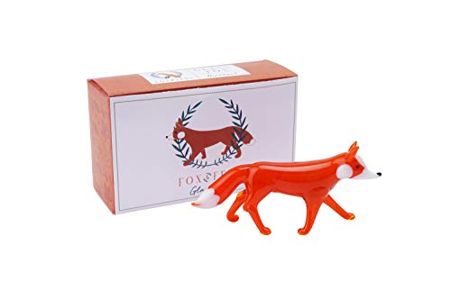 Fox and Fern Glass Ornament Glass Fox Decoration in Gift Box   From CGB Giftware's Fox and Fern's Range   Glass Animal   GB05449