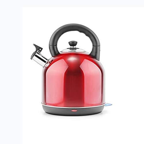 Bouilloire, acier inoxydable 3L Capacité Bouilloire avec sifflet, poignée ergonomique, Bouilloire rouge des ménages