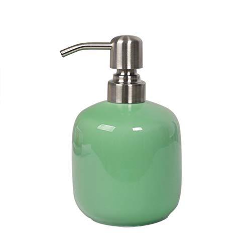 YINGZI Recargable Celadon Soap dispensador de jabón Simple Botella de Mano Prensa Creativa Ducha Gel Lotion Dispenser champú Botella para hoteles Dispensador de Baño (Color : Green)