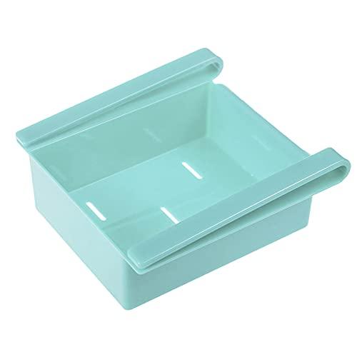 GZWY Organizador de cajones para nevera, retráctil, colorido, para frigorífico, congelador, conservación, estante separador, multiusos, caja de almacenamiento, 16,2 x 15,5 x 7 cm (azul)