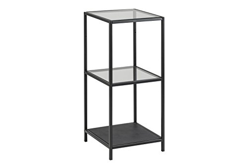 AC Design Furniture Regal Jörn, B: 35 x T:37 x H: 82,5 cm, Metall, Schwarz