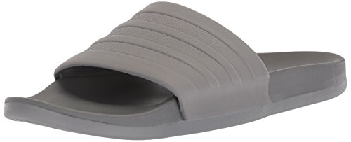 adidas Men's Adilette Comfort Swim Shoe, Grey/Grey/Grey, 10 M US