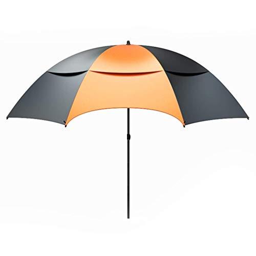 RSBCSHI Paraguas de Pesca Paraguas Grande, protección de la tormenta de Doble Capa Engrosada Protección Impermeable y Protector Solar Protección UV Pesca Plegable Paraguas