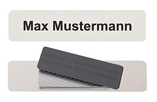 Aluminium Namensschild 87x20mm mit individuellem Wunschtext (Magnet)