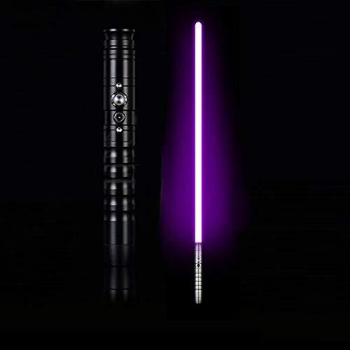 JLKJBH - Espada de juguete para cosplay con espada láser y carga USB (mango negro)