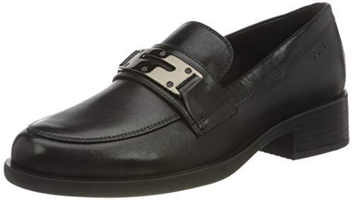 Geox Damen D RESIA K Loafer, Black, 38.5 EU