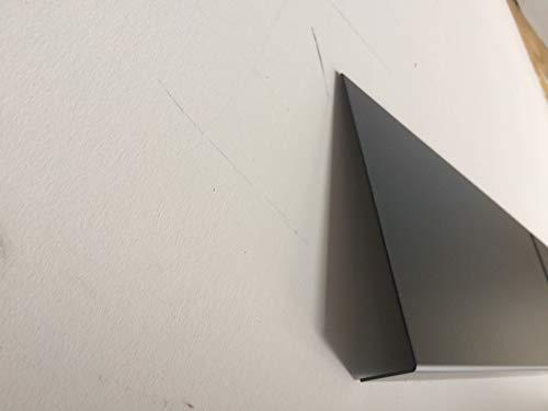 Bandeau de Rive Alu Gris Anthracite ep 1 mm - 17 tailles -Retour 3 cm x (Hauteur 15 cm)
