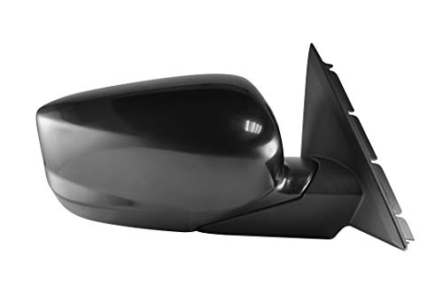Passenger Side Manual Folding Unpainted Power Operated Side View Mirror for 2008-2012 Honda Accord - Parts Link # HO1321230