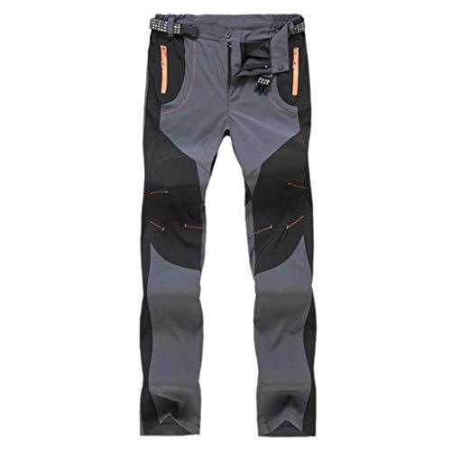 Sneldrogende, waterdichte broek voor buiten, short joggingbroek, vrijetijdsbroek, panty's. XX-Large grijs