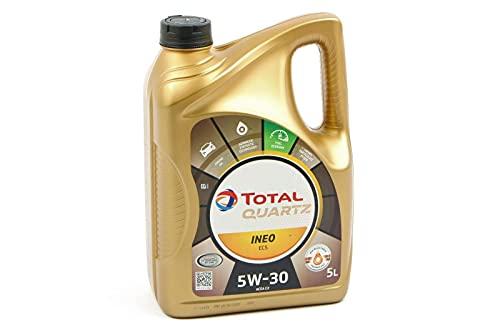 Total ACTOT5W305L Aceite DE Motor Quartz INEO ECS 5W30 5 litros, Dorado, 5L