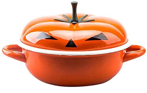 HYYDP Cacerolas Cazuela de Arcilla Pote de Hierro Fundido Casserole Horeno holandés Stef Pot con Tapa Terracotta Stew Pot - Oval Induction Casserole
