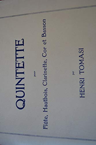 H. Tomasi - Quintette para crète, bois de piel, clarinete y bajos (score y todas las partes)