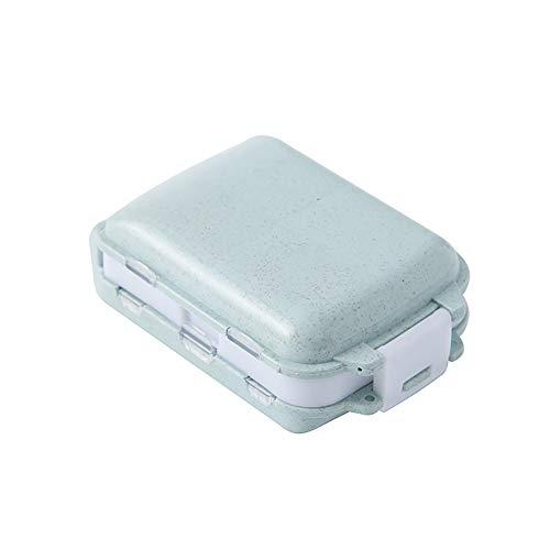 Namgiy - Pastillero para Tableta, Kit de Botellas, Organizador de medicamentos, dispensador, Cesta de Almacenamiento portátil para Viajes, Azul, 1