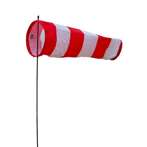 CIM Windsack - Avia - Sock S - UV-beständig und wetterfest - Ø13cm, Länge: 36cm, Standhöhe: 65cm - inkl. Fiberglasstab