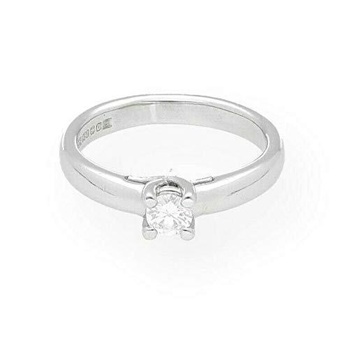 Palladium 950 0.33ct Diamond Solitaire Ring (Maat M) 4mm Hoofd