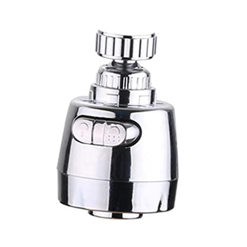 aireadorgrifococina Cabezal de Boquilla de Grifo Giratorio de 360 °, Cromo Pulido ABS para Agua Caliente FríA, Grifo de Refuerzo Antisalpicaduras para Ducha y Grifo de Ahorro de Agua (Color:Plata)