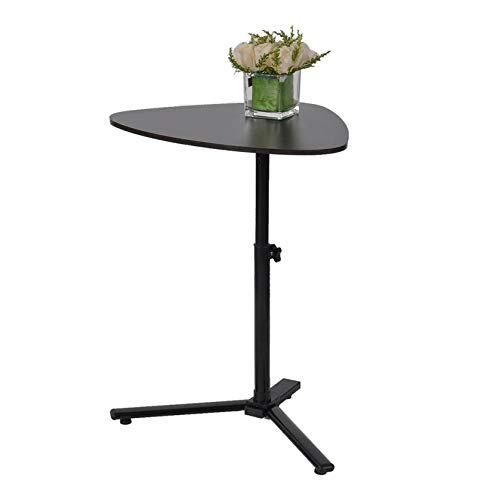 Raised and Lowered Mobile Lazy Laptop Desk, Coffee Table Living Room Storage Shelf Table Sofa Side Desk Office End Table Bedroom Snack Tray Patio Rise and Drop Table 23.2 x 15.7 Inches (Black)