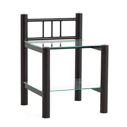 DICO Metall Nachttisch Beistelltisch 095 Struktur schwarz