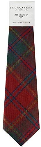 Gents Neck Tie All Ireland Red Irish Tartan Lightweight Scottish Clan Tie